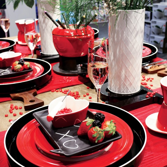 La Saint-Valentin: Des petits trucs pour agencer la table pour vos amies, votre famille et vos êtres chers !