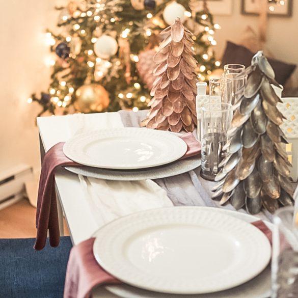 Des gaufres pour déjeuner de Noël féérique
